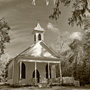 Black and White Architectural Photography of Grace Chapel, Rockville, SC